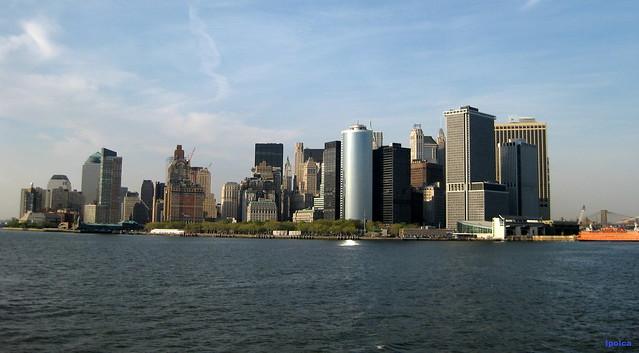 Vista de Manhattan desde un ferry