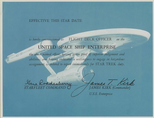 USS Enterprise Flight Deck Certificate | by birdofthegalaxy