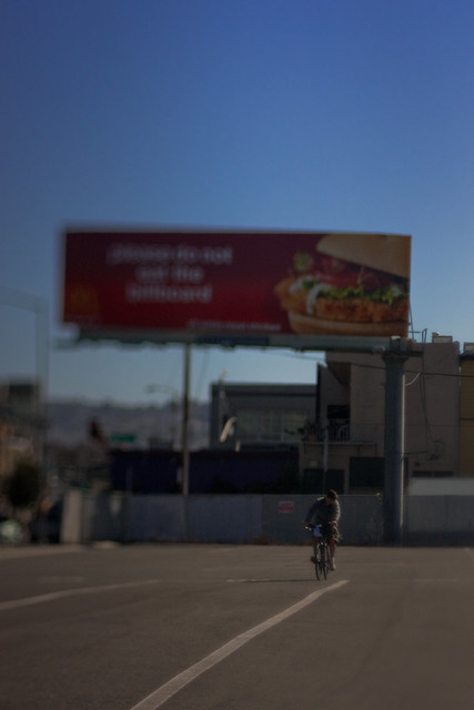 Day in the life of SOMA: cheeseburger chasing cyclist