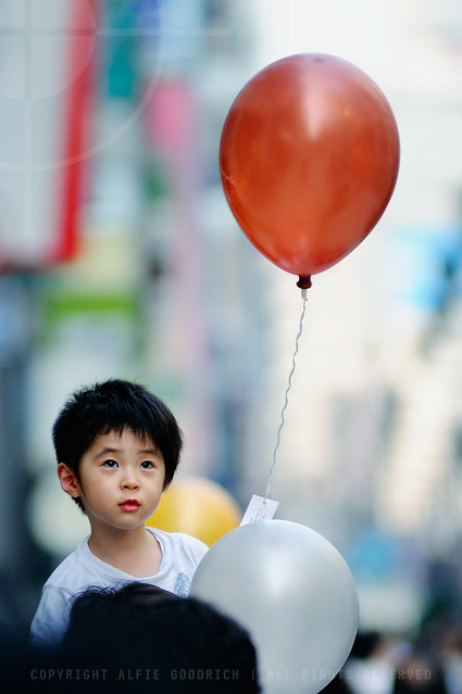 The Boy with the Baloon; Ginza, Tokyo