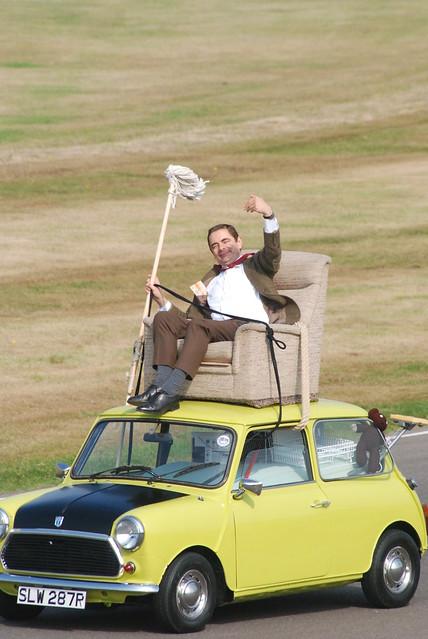 Mr. Bean (Rowan Atkinson), Fifty Years of the Mini Parade, Goodwood Revival Meeting