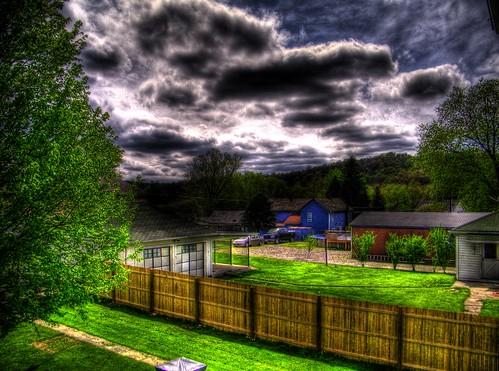 ohio fence landscape backyard freehand hdr propertyline photomatix bergholz