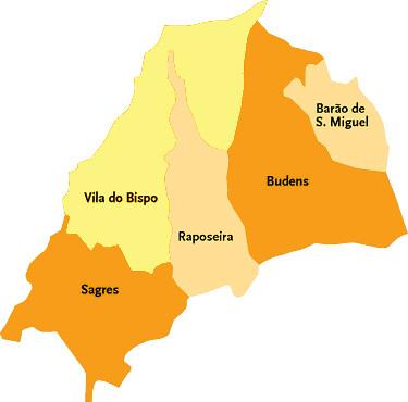 Concelho De Vila Do Bispo Mapa Das Freguesias Jorge Bastos