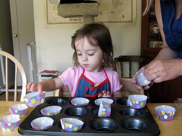 Zoe Making Cupcakes
