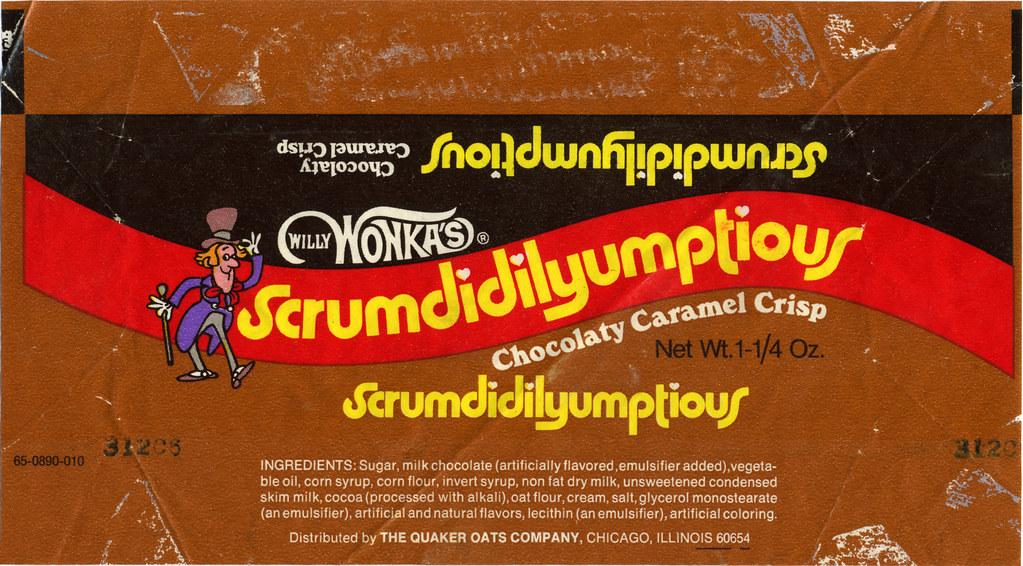 Quaker Oats Willy Wonkas Scrumdidilyumptious Candy Ba