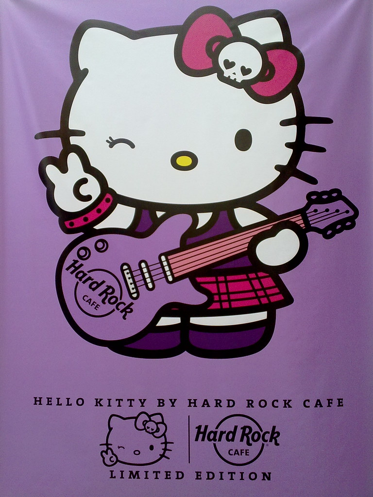 Hello Kitty Hard Rock Cafe Edition Poster From Tokyo Roppo Flickr