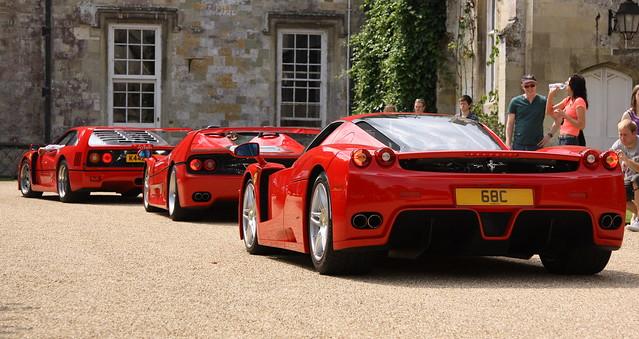 Ferrari F40 F50 Enzo Pistonhead Wilton House supercar Day