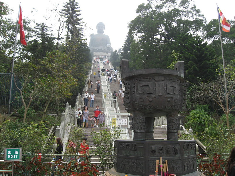 The climb up to Big Buddha