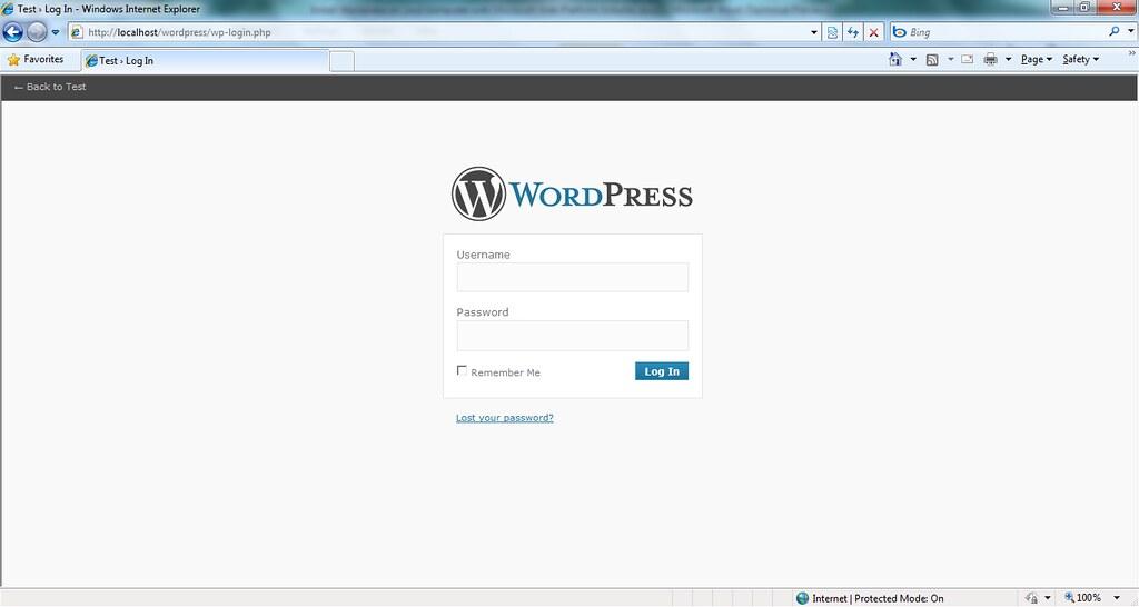 ... n - WordPress - login screen - by labnol