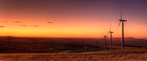 blue light sunset sky mountain yellow washington desert wind dusk farm hill cities windmills wa crops tri tones hdr tumbleweeds sagebrush kennewick civiltwilight tricities jumpoffjoe philerooski