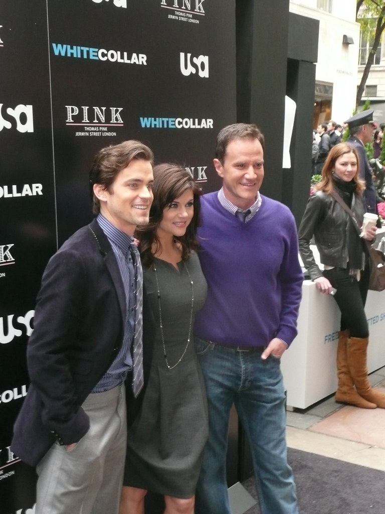 Matt Bomer Tiffani Amber Thiessen And Tim Dekay At Premiere Event For Usa S White Collar A Photo On Flickriver Athletic in high school, he played both basketball and baseball. matt bomer tiffani amber thiessen and