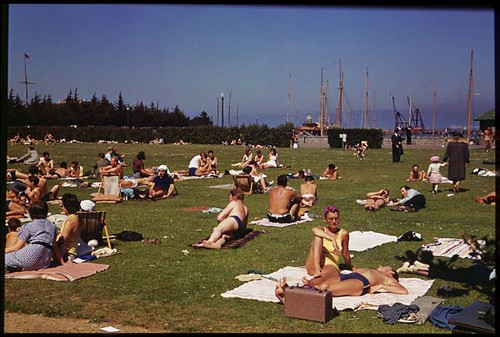 Marina Beach Holiday crowd- but all Strangers   by IMLS DCC