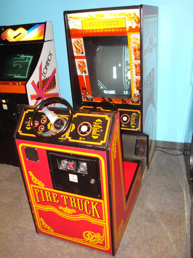 Atari Fire Truck arcade game   All of the games in the arcad