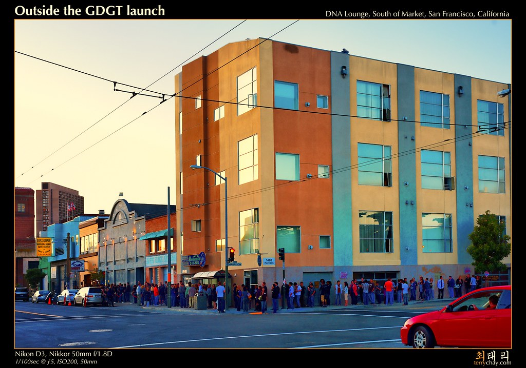 Outside the GDGT launch by tychay