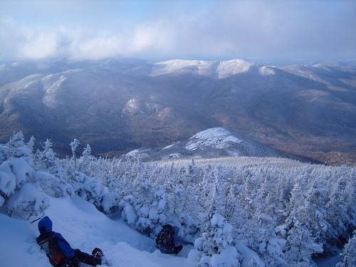 winter mountains hiking adirondacks views