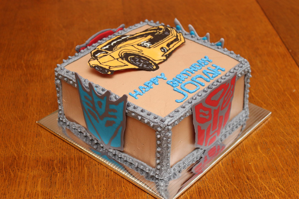 Sensational Transformers Birthday Cake Chocolate Cake With Chocolate B Flickr Funny Birthday Cards Online Ioscodamsfinfo
