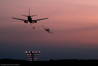 A lot of traffic at Airport Weeze | by Dave Heuts