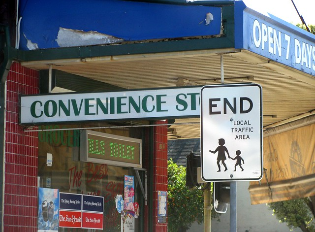 Convenience street ends here. After that you have to put up with local traffic...