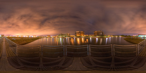 Lights on the water - Pano in Bourcherville | by haban hero