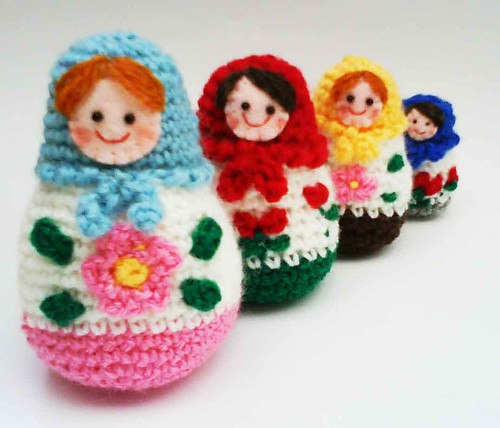 Russian Matryoshka amigurumi babushka Dolls Crochet Pattern | by HandmadeKitty=^_^=