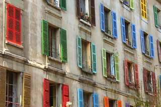 Colourful shutters in Switzerland | by Jarod Carruthers