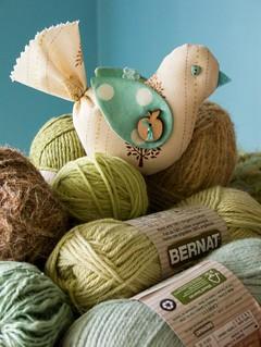 Bird Ornament & Yarn