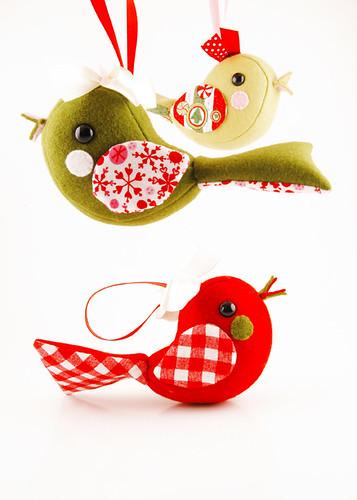 christmas bird ornaments | by sugarelf