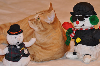 Pete with his snow buddies