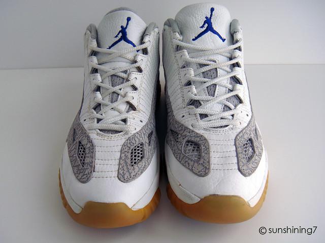 buy online c9f49 d1d19 Sunshining7 - Nike Air Jordan XI (11) - OG 1996 - IE Low - White Light Grey  Cobalt