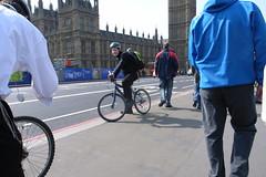 cyclist near Big Ben