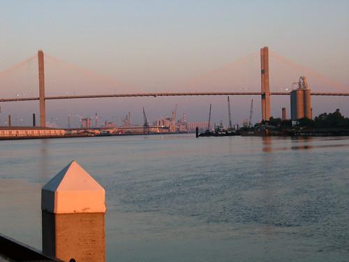 Bridge and Port, Early Morning / Pont et port, matin tôt | by taberandrew
