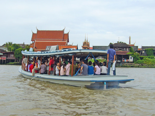 Ferry over the Chao Phraya river to Ko Kret island