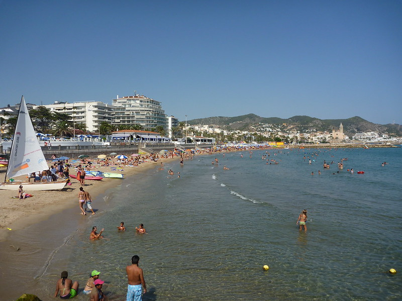 Beachfront during the busy summer months