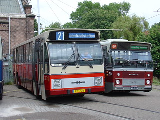 Two (preserved) Amsterdam city bus generations | by Amsterdam RAIL