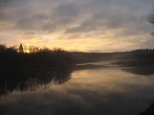 autumn mist reflection creek sunrise river dawn pa milford pikecounty confluence greenway delawareriver nepa riverroad delawarerivervalley delawarewatergapnationalrecreationarea sussexcountynj pinchotgreenway catj20092014
