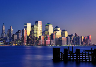 Twilight over the Financial District, NYC, from Pier A Park, Hoboken II | by andrew c mace