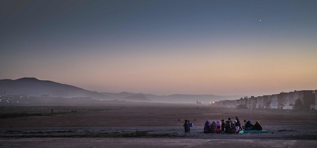 Nightfall at Ifni, Sidi Ifni, Morocco.