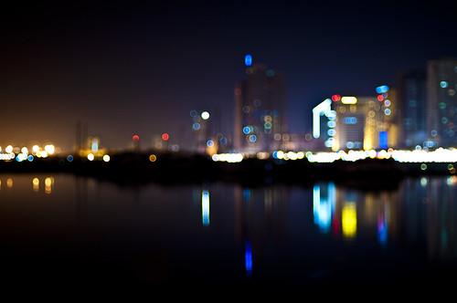 longexposure colors reflections lights cityscape nightshot bokeh philippines manilabay roxasboulevard nikkor50mmf14d harborsquare project365 nikond90 michaeljosh contactsoff