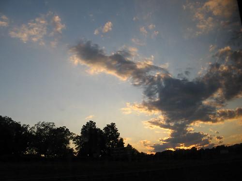 sunset mountains forest nc woods carolina blueridge
