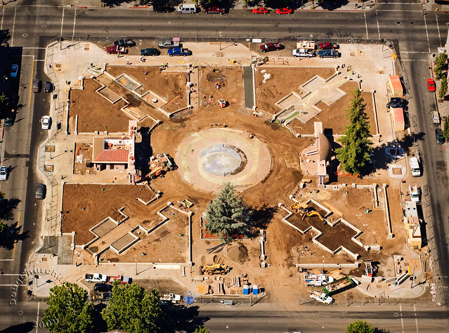 Downtown Plaza construction phase • Chico, CA