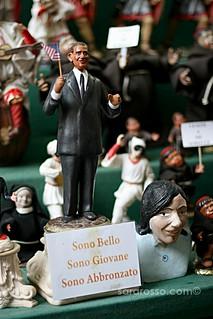 "President Obama Nativity Scene Figure: ""I'm Handsome, Young, Tan"" in Naples, Italy | by MsAdventuresinItaly"