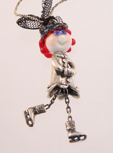 Ice Skater Lady Necklace | by eviHAN Lampwork and Silver Jewelry