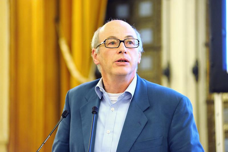 Michel Gollac, sociologue, lors de l'Université sur le Travail