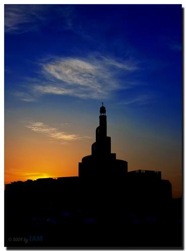 city longexposure sky art beautiful architecture night digital sunrise nikon cityscape gulf shot nightshot islam middleeast mosque best islamic doha qatar bestshot fanar islamiccenter d90 shalat amazingqatar