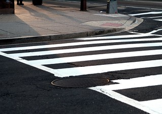 Shadows on a Crosswalk (Washington, DC) | by takomabibelot