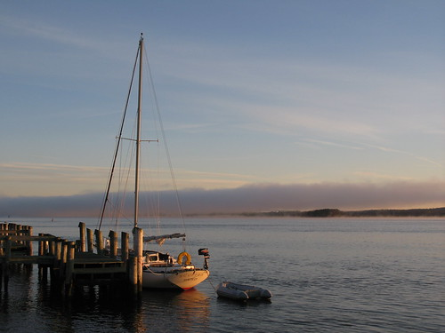 morning sailboat sunrise river pier dock connecticutriver oldsaybrook saybrookpoint