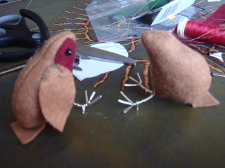 One finished, one robin nearly finished | by lilspikey