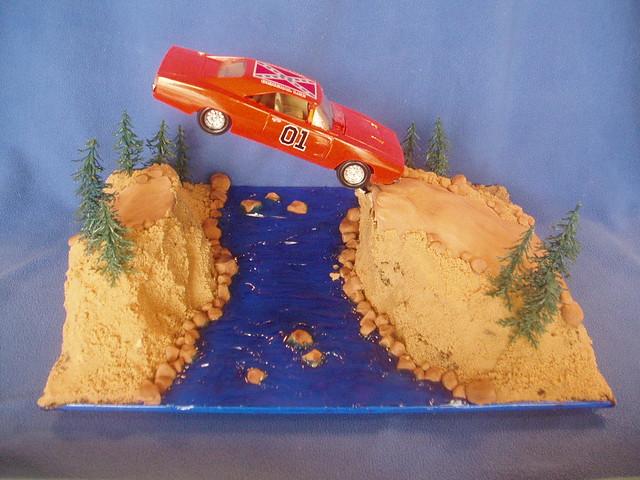 Pleasing Dukes Of Hazzard General Lee Cake Sweet Cake O Mine 04 Flickr Personalised Birthday Cards Arneslily Jamesorg