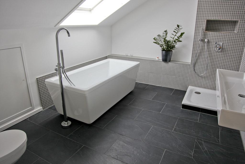 Schiefer Fliesen Im Badezimmer Jonastone Flickr