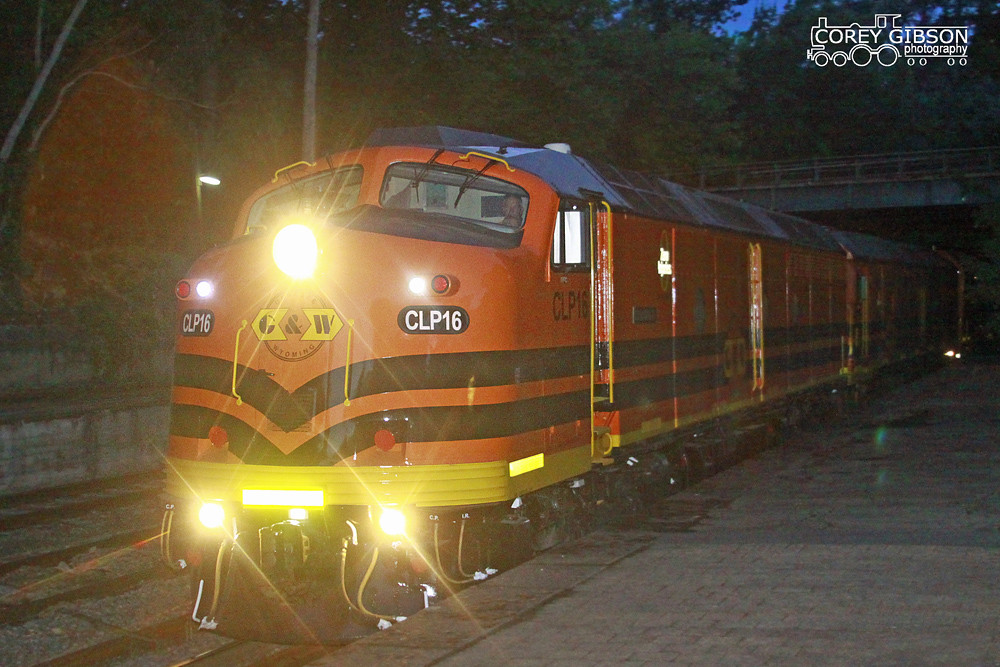 CLP16 leads the grain train through Mt Lofty Station by Corey Gibson